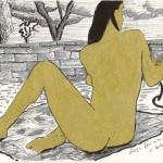 Nu doré au paysage  (16.5x24)-copie